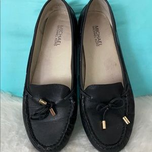Michael kors black driving loafers sz 9